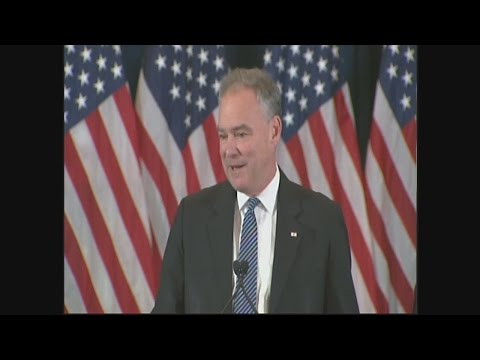 Election 2016:  Tim Kaine introduces Hillary Clinton to deliver her concession speech