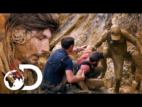 Parker Nearly Falls To His Death After A Dam Burst! | Gold Rush: Parker's Trail