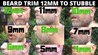 Beard Trimming Tips 12mm to 4mm Stubble