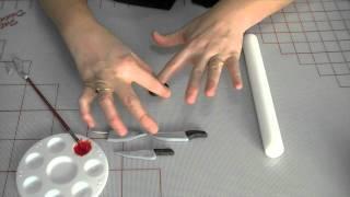 How To Make A Fondant / Gum Paste Halloween Knife