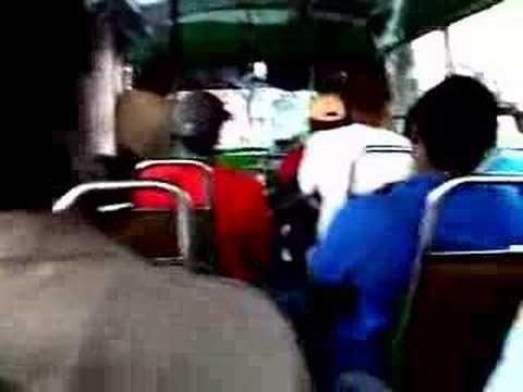 Bus ride in Barbados