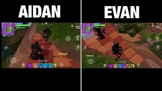 FORTNITE - DOU DUBS - VICTORY ROYALE BOTH GAMEPLAY VIEWS