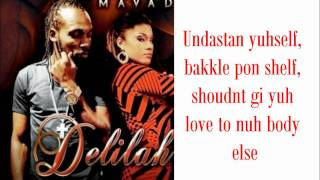 Mavado - Delilah (LYRICS ON SCREEN) 2011 Dancehall music.