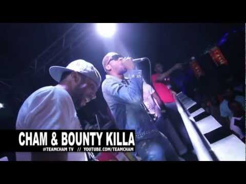 CHAM AND BOUNTY KILLER SNEAKS UP AND TEARS DOWN COLLEGE PARTY @ UWI JAMAICA 2012