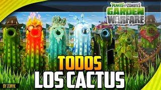 """""""Todos los Cactus"""" / """"All Cactus"""" (Recopilación) - Plantas vs Zombies Garden Warfare"""