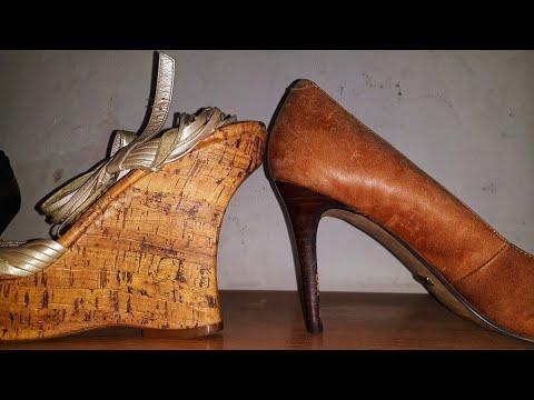 Ремонт обуви. Замена каблука на танкетку.