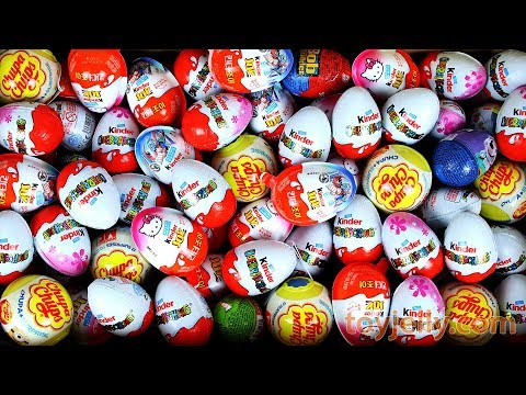 New Surprise Chocolate Eggs Surprise Kinder Joy For Boys and Girls Unboxing Learn Colors for Kids