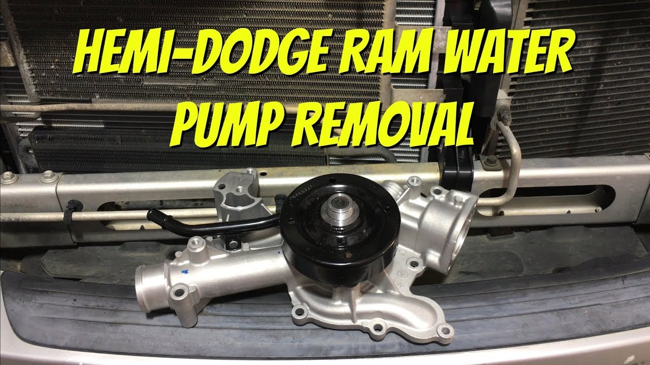 how to replace dodge ram 5 7l hemi water pump
