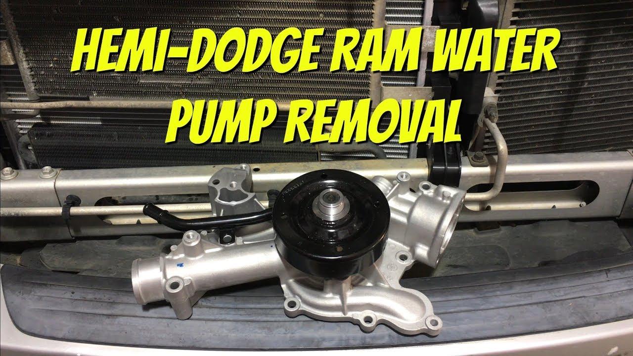 how to replace dodge ram 5 7l hemi water pump [ 1280 x 720 Pixel ]