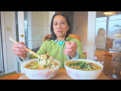 How to make Authentic Bánh Canh | Ăn Bánh Canh làm tại nhà ở Canada | VIETNAMESE UDON SOUP