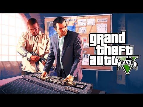 GTA 5 STORY MODE - JEWLERY STORE HEIST W/ MICHAEL & FRANKLIN! (GTA 5 Story Mode Walk through)
