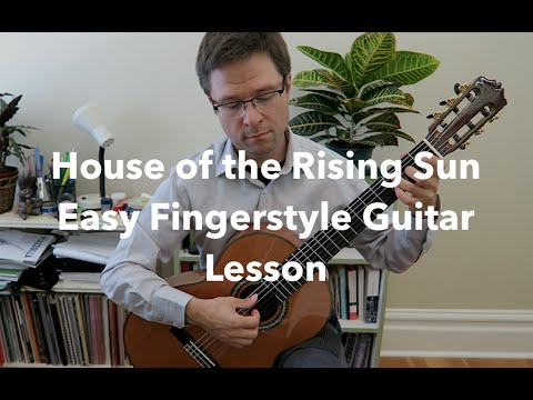 Lesson & Free PDF: House of the Rising Sun for Easy Guitar