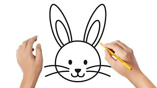 bunny rabbit drawing face draw easy drawings step simple steps tutorial af