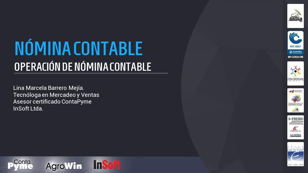 Software contable ContaPyme - Operación de nómina contable - YouTube
