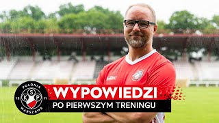 WYPOWIEDZI | 'Pasja, chęć i zaangażowanie | Trener Rafał Smalec po pierwszym treningu w Polonii