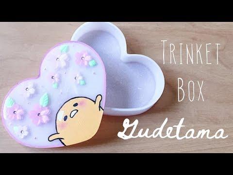 DIY Sakura Gudetama Trinket Box