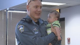 Police officers become community heroes after saving baby