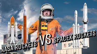 SpaceX rockets vs NASA rockets