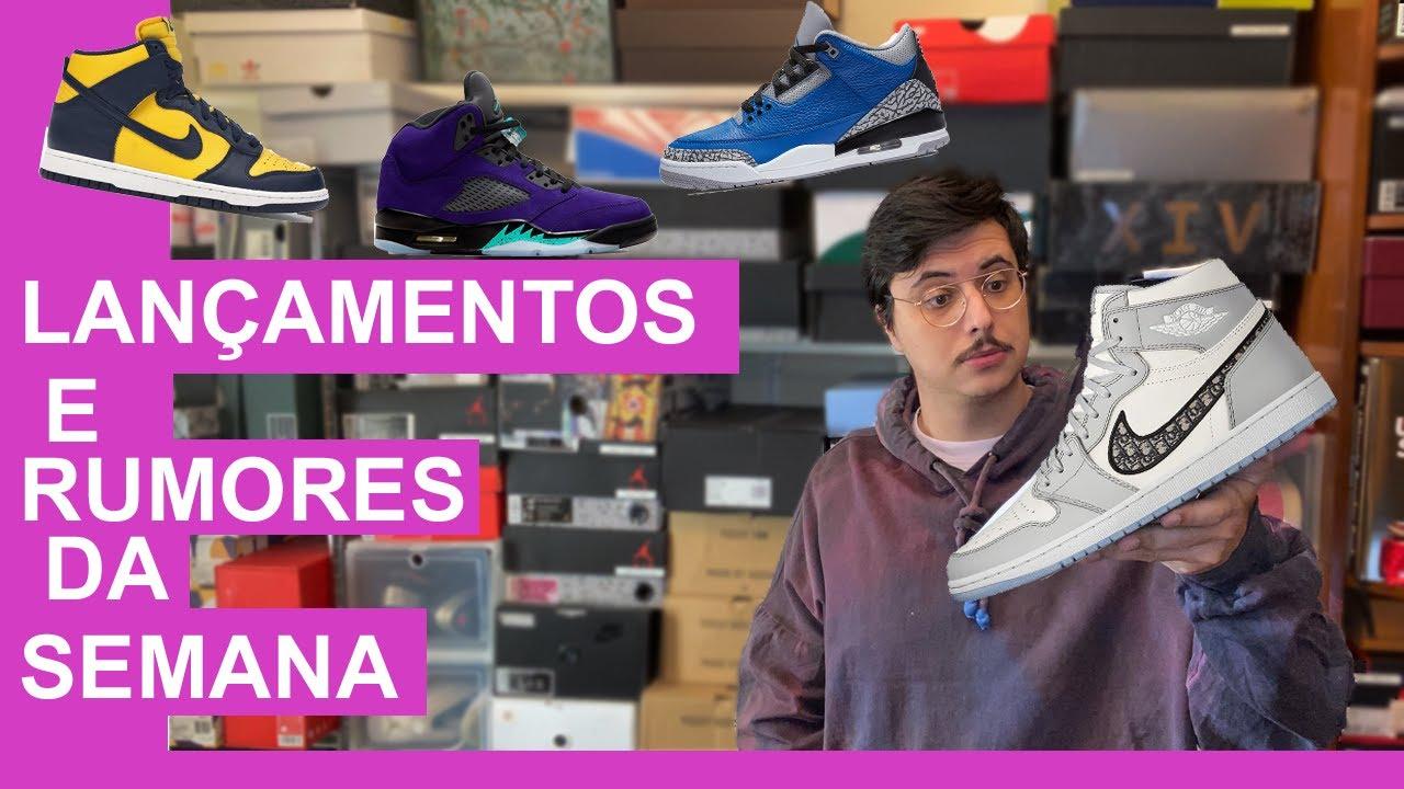 Lançamentos e Rumores da Semana (Jordan 1 Dior, Jordan 5 Alternate Grape, Jordan 3) - Tiago Borges