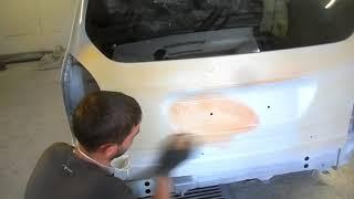 Opel Zafira гаражный косметический ремонт кузова 2-я часть