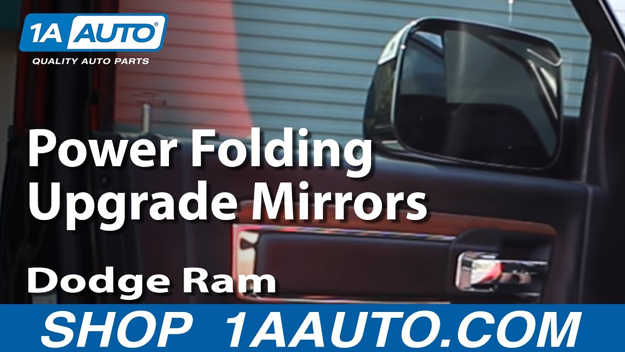 Part 2 2008 14 Dodge Ram Power Folding Upgrade Mirrors