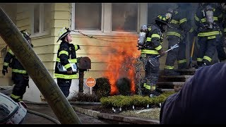 Paterson NJ Fire Department 2nd Alarm Fire 39 Richmond Ave Heavy Fire in the Basement Feb 12th 2018