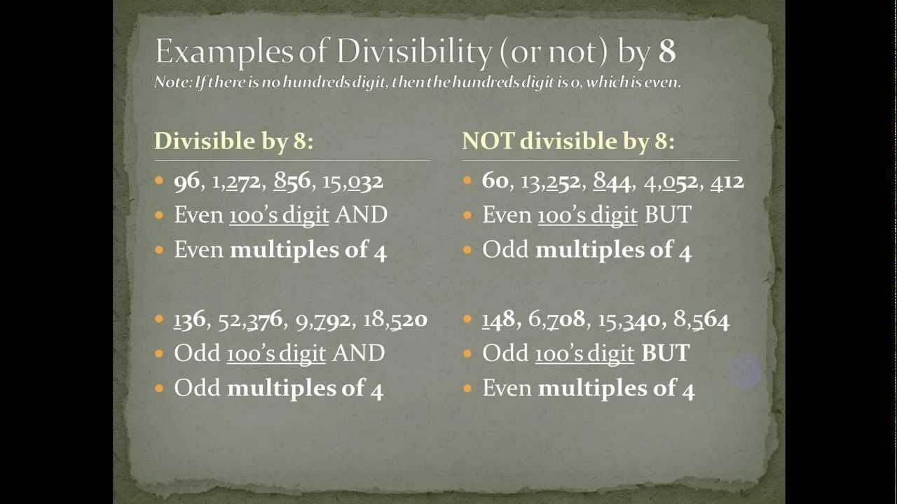 Divisibility rules for 7 8 11 youtube divisibility rules for 7 8 11 freerunsca Image collections