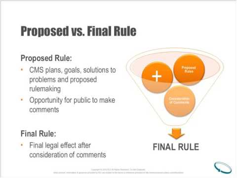 ACRO Webinar: 2017 Final Rule Summary