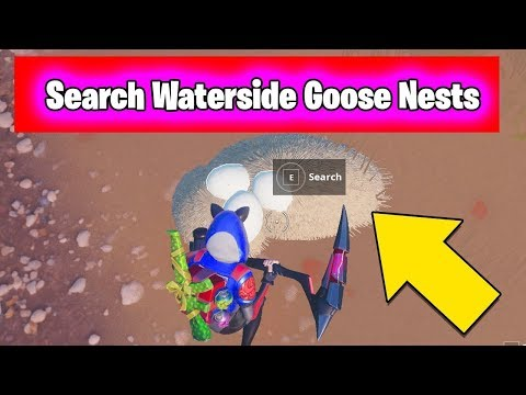 Search Waterside Goose Nests ALL LOCATIONS - 14 Days Of Fortnite Challenges Guide