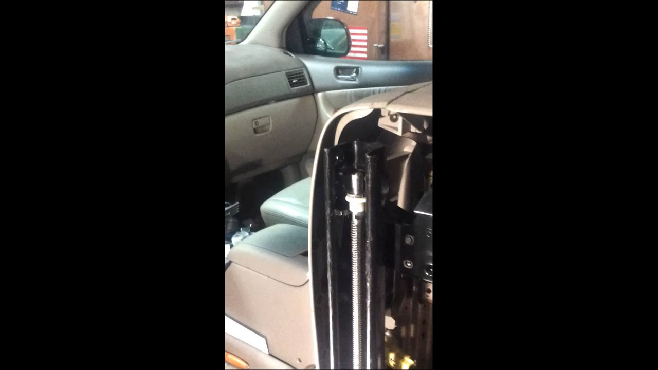 hight resolution of toyota sienna power seat fix seat stuck wont move