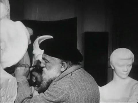 Auguste Rodin – Filmed Sculpting in his Studio (1915)