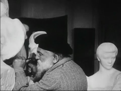 Auguste Rodin – Filmed Sculpting in his Studio (1915)