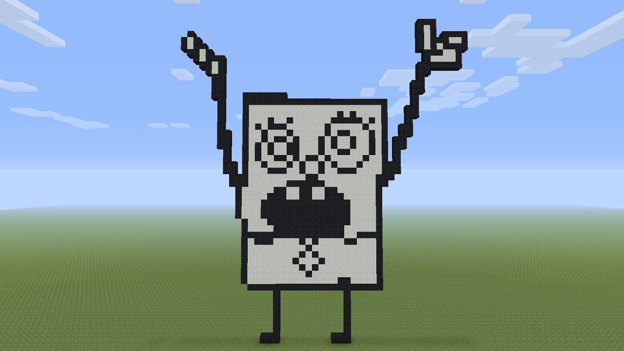 Minecraft Pixel Art Doodlebob