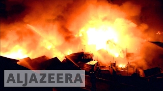 Manila: Thousands left homeless as fire ravages slum