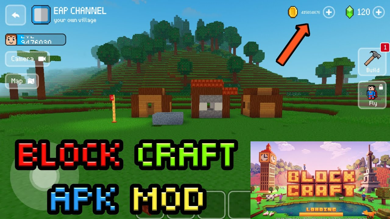 block craft 3d mod apk unlimited diamond and coins