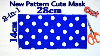 Very Easy New Style Cute Mask Face Mask Sewing Tutorial New Pattern Mask No Fog On Glasses