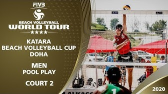 Pool Play - Court 2 | Full Day | 4* Doha (QAT) - 2020 FIVB Beach Volleyball World Tour