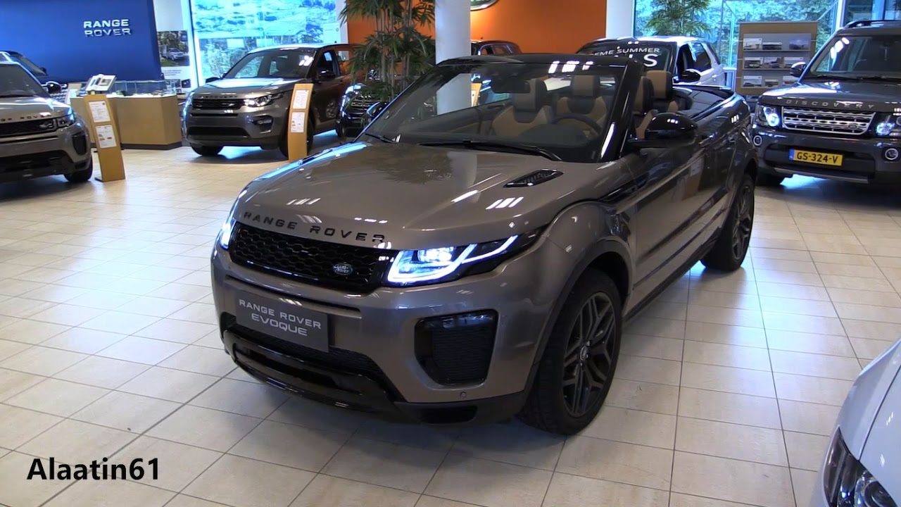 range rover evoque convertible start up in depth review. Black Bedroom Furniture Sets. Home Design Ideas