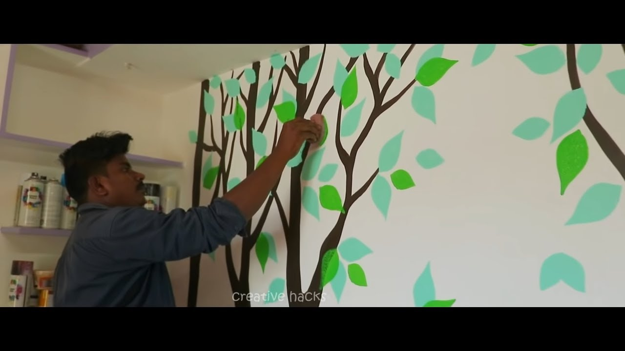 Creative Wall Painting Ideas For Bedroom Youtube