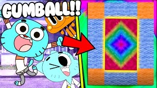 HOW TO MAKE A PORTAL TO THE GUMBALL DIMENSION - MINECRAFT AMAZING WORLD OF GUMBALL