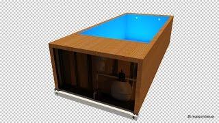 屳 Swimming Pool Container 📌 NEW 📌 #containerpiscine #piscinecontainer #spapiscinecontainer
