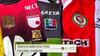 Subasta de camisetas de fútbol profesional en Rionegro