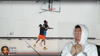THIS GAME WAS SO PHYSICAL!!! Reacting to Cash vs DDG 1v1 Basketball Matchup!