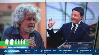 Italian comedian and politician Grillo signs pact to support science | #TheCube