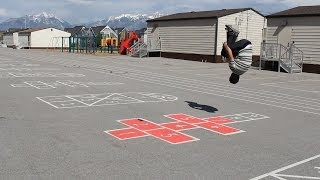 Extreme Hopscotch Tricking