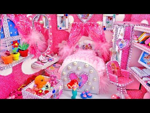 DIY Miniature Disney Princess Dollhouse - Miniature Girly Dollhouse pink Room