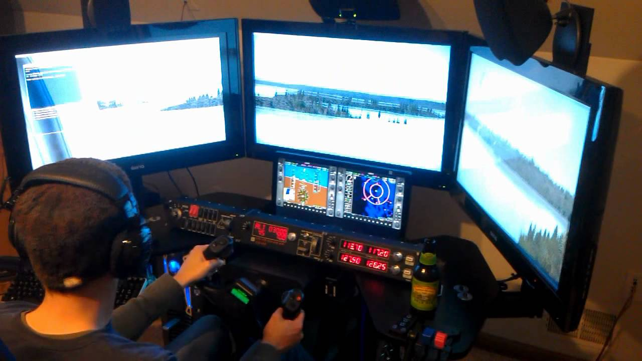Fsx With Trackir5 And Multiple Monitors Youtube