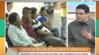 Jueces de Bolivia se declaran en emergencia