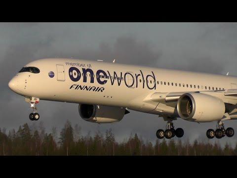 Finnair A350 ONEWORLD OH-LWB landing at Helsinki!