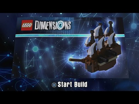 LEGO Dimensions - One Eye'd Willy's Pirate Ship Building Instructions - The Goonies Level Pack 71267